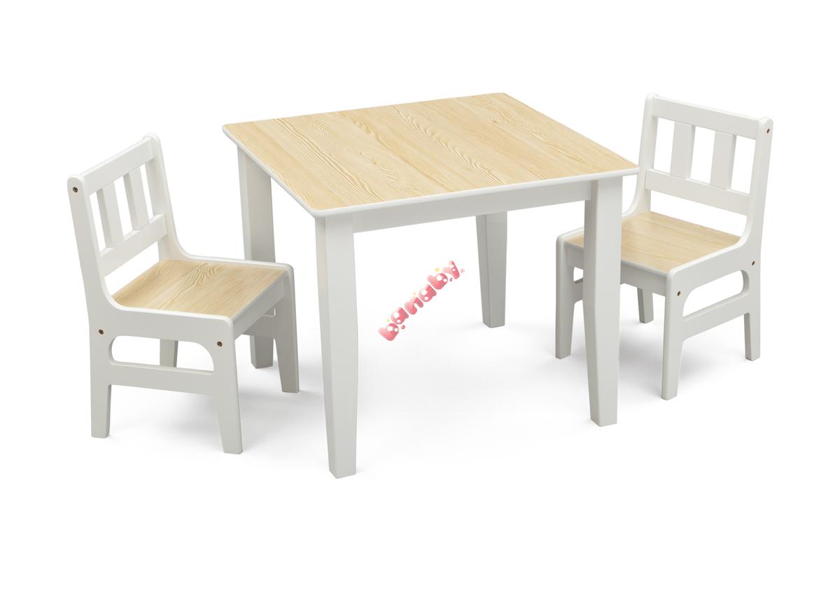 natúr fa asztal és szék gyerekeknek