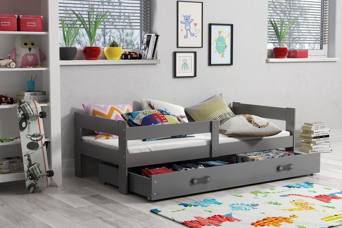 Gyermekek ágy Hugo 160x80 cm - szürke