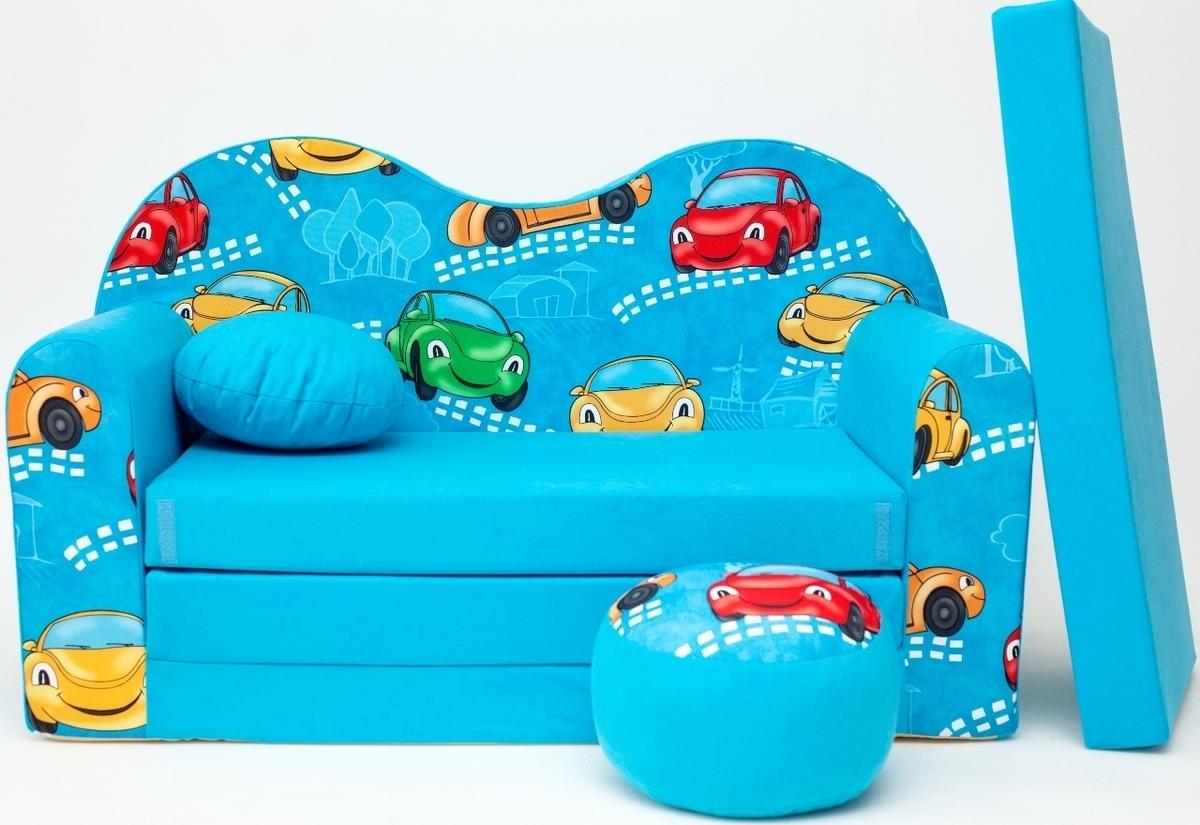 Gyerek kanapé - autók - kék