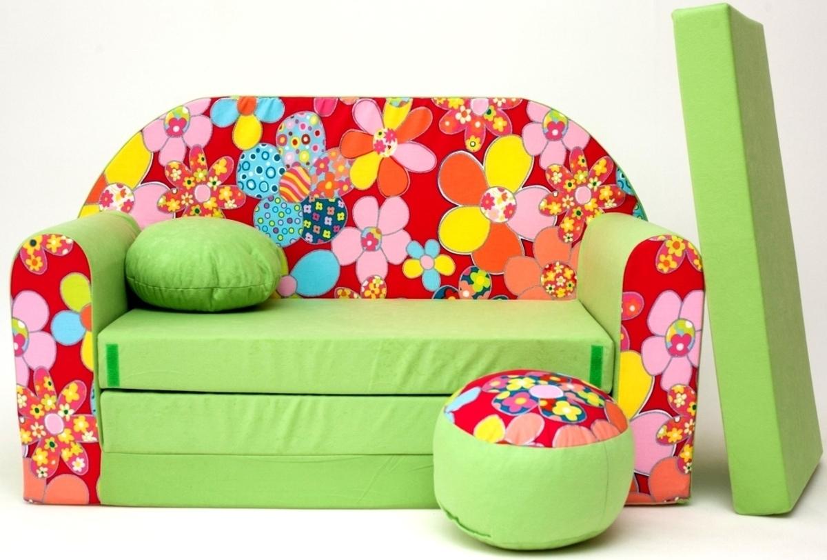 Gyerek kanapé - virágok