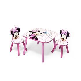 Gyerek asztal székekkel Minnie egérke III (39 db