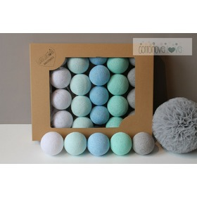 Cotton Balls - Mint Pastell, cottonovelove